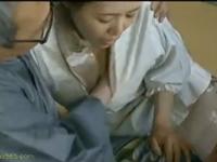 着物に割烹着の女中が旦那様との禁断の肉体関係に溺れる